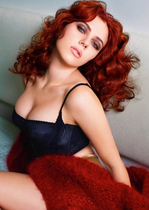 Scarlett Johansson Red Hair Ear Hustle 411