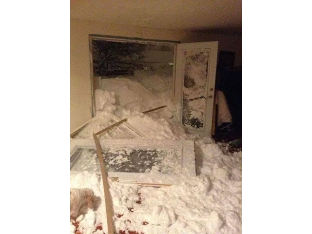Snow knocks Down Door To Family's Home In Cheektowaga New York