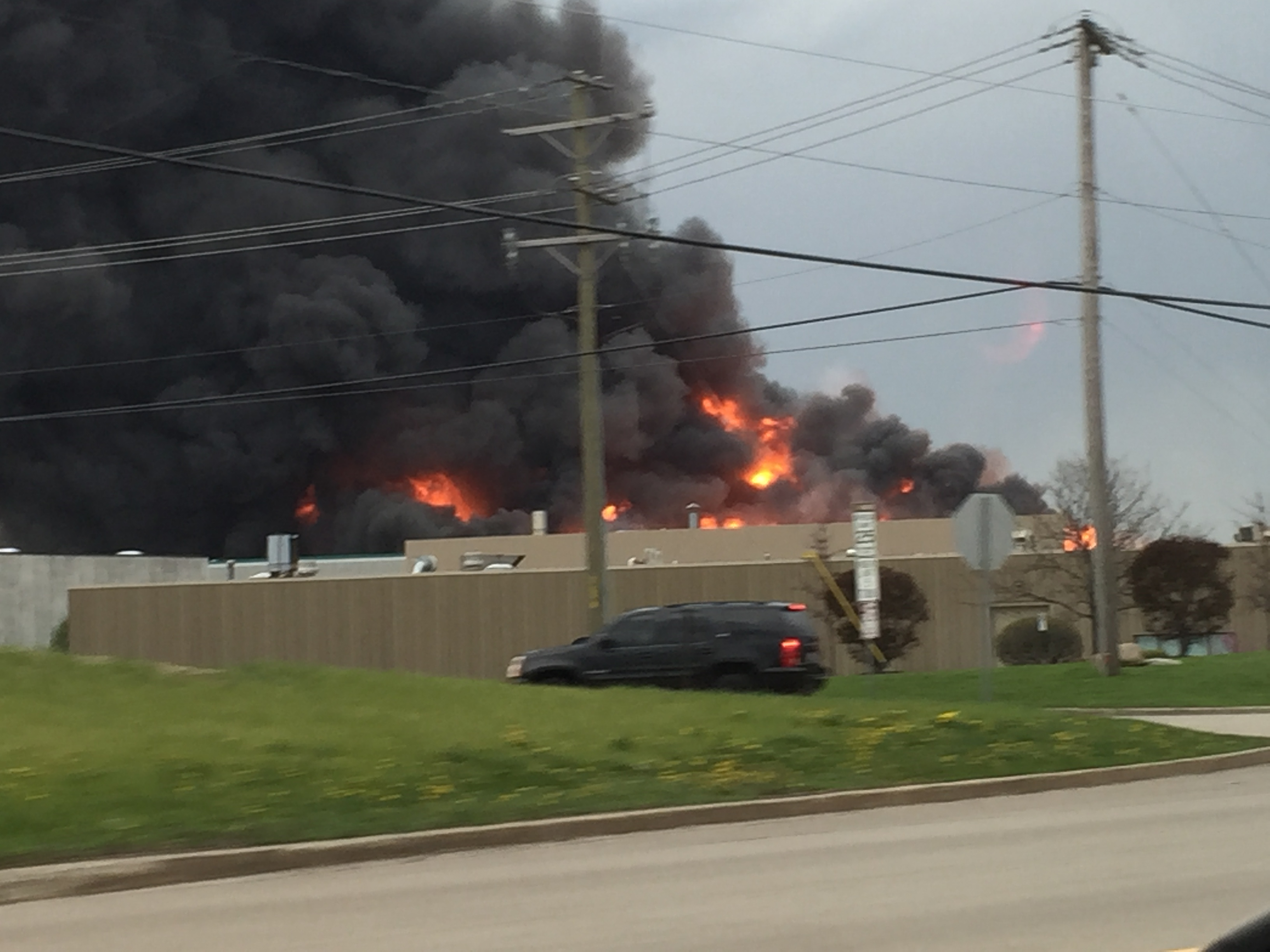 The Roomplace Furniture Warehouse Burned In A Fiery Blaze