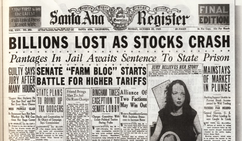 When did the stock market crash?