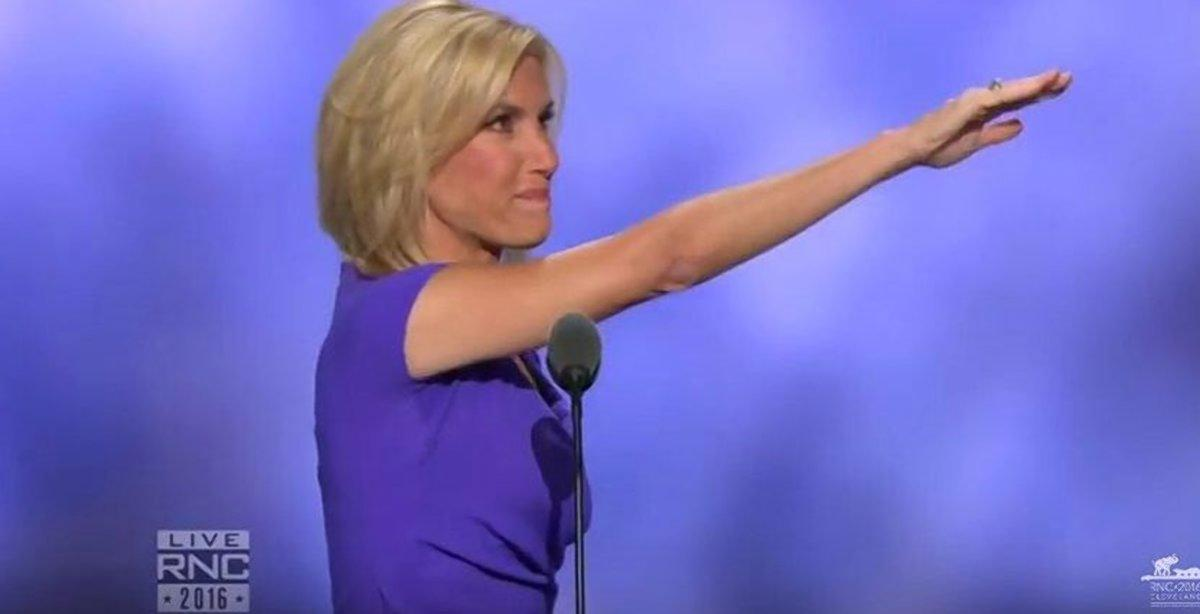 Laura Ingraham Ends Her Speech By What Appears To Be A ...