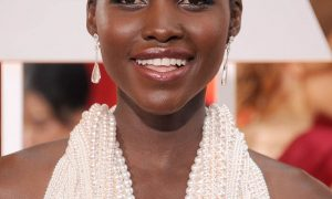 HOLLYWOOD, CA - FEBRUARY 22: Actress Lupita Nyong'o arrives at the 87th Annual Academy Awards at Hollywood & Highland Center on February 22, 2015 in Hollywood, California.  (Photo by Gregg DeGuire/WireImage)