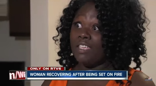 Man Sets Woman On Fire : Man brings wife to girlfriend s house confront her