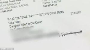 daughter killed in crash letter