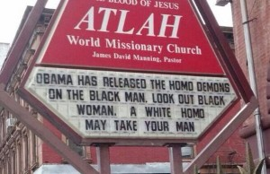 anti gay church sign
