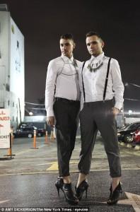 men in high heels