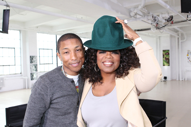 Pharrell Crys on Oprah