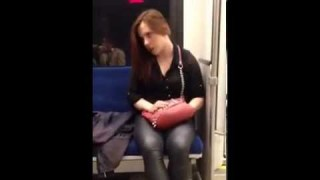 possessed woman attacks fellow train rider