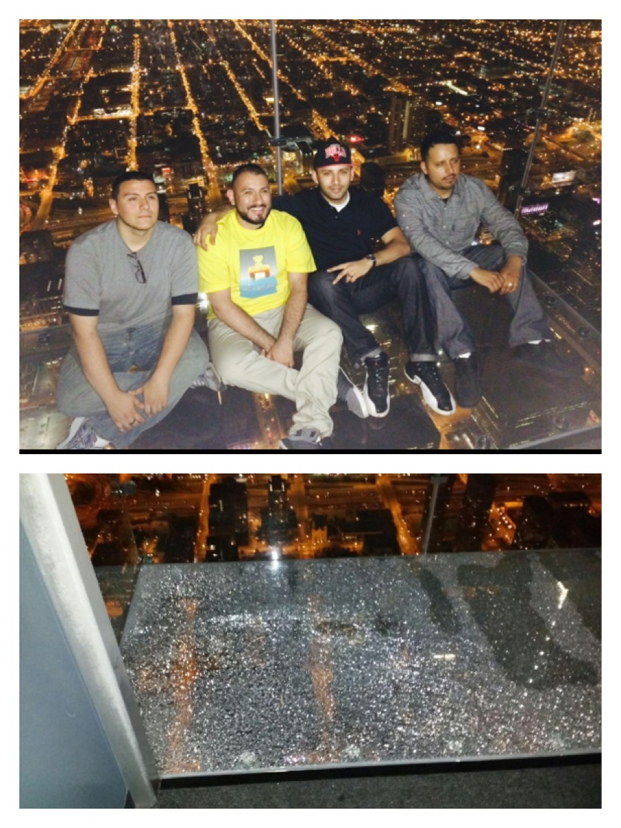 Coating on Willis Tower Skydeck's Ledge Cracks Under Tourists Source: http://www.nbcchicago.com/news/local/chicago-willis-tower-sky-deck-ledge-crack-261079001.html#ixzz337a3LspL Follow us: @nbcchicago on Twitter | nbcchicago on Facebook