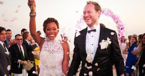 Rapper Eve marries Millionaire Maximillion Cooper in Ibiza