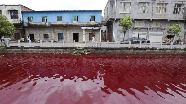 River In China Mysteriously Turns Bloody Red Overnight, Is This A Sign Or A Hoax!!!!