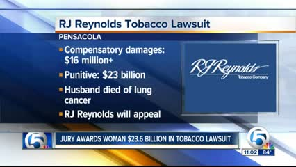 Fla. Jury Awards $23.6 Billion To Lung Cancer Widow In RJ Reynolds Lawsuit