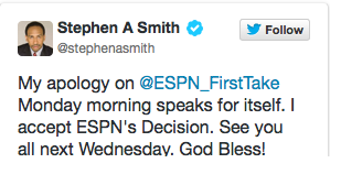 stephen a smith apology