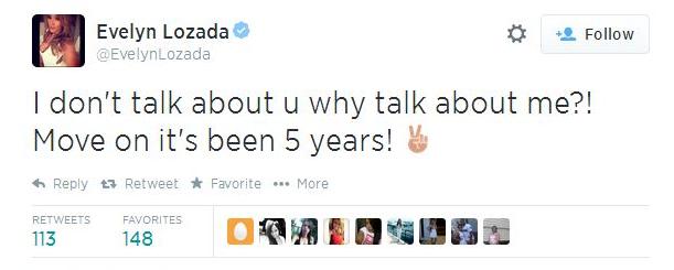 Eva lozada's twitter response
