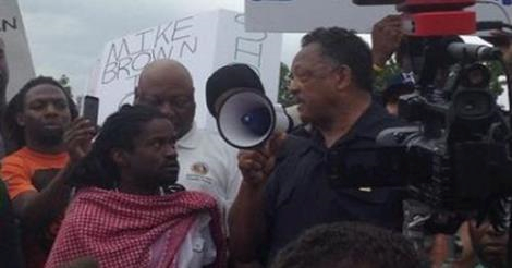 The Nerves!!! Rev. Jesse Jackson Asks for Donations to His Church at Ferguson Protest, is Booed Off Stage
