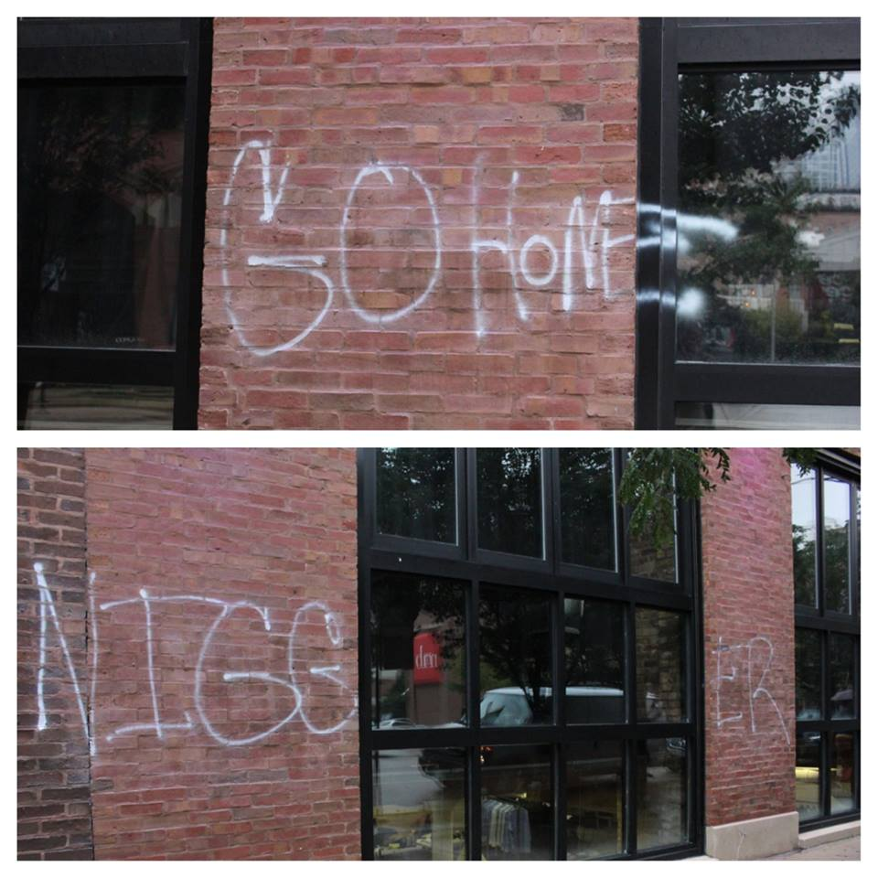 """Upscale Chicago Restaurant Nouveau Tavern Vandalize With Racial Slurs; """"Go Home Ni**er"""""""