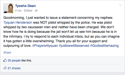 Tyesha Dean facebook post