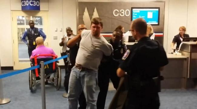 Angry Homophobe Attacks Man He Thinks Is Gay At Dallas Airport, Only To Be Taken Down By Onlookers [VIDEO]