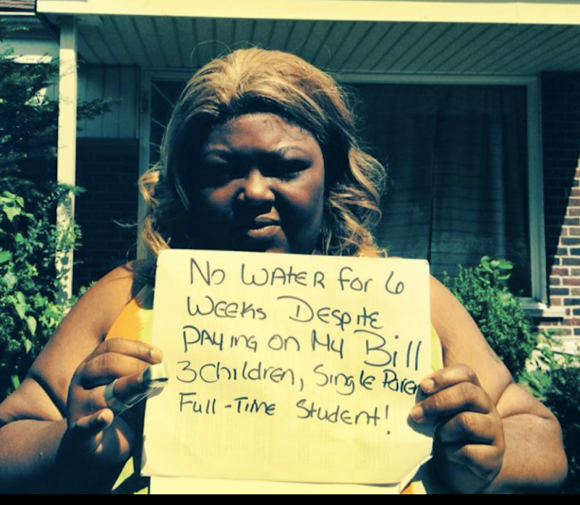 Despite Paying Her Water Bill, Detroit Mother Is Still Without Water After 6 Weeks