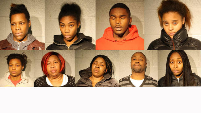 retail theft ring suspects