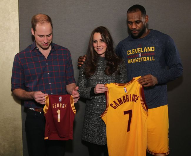 LeBron Violates Royal Protocol, Puts Arm Around Kate Middleton During Photo, He's King James !!!!