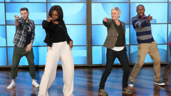 Michelle Obama has dance-off with Ellen DeGeneres