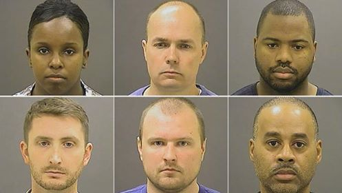 6 Officers Charged With The Brutal Murder Of Freddie Grey 3 Black & 3 White, Bond Set Between $250K & $350K