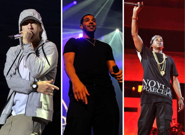 "Jay Z, Eminem and Drake All Made It on Billboard's ""Money-Makers"" List"