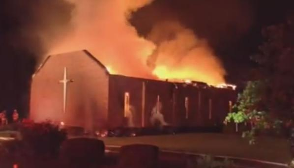 Breaking News- Mt. Zion AME Church In Williamsburg County, South Carolina Is On Fire