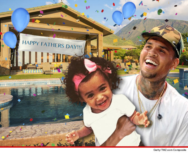 Chris Brown Celebrates Fathers Day With His Baby Girl Royalty