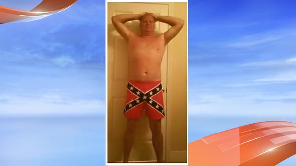 Cop in N. Charleston Fired For Posing In Confederate Flag Underwear & Posting On Facebook