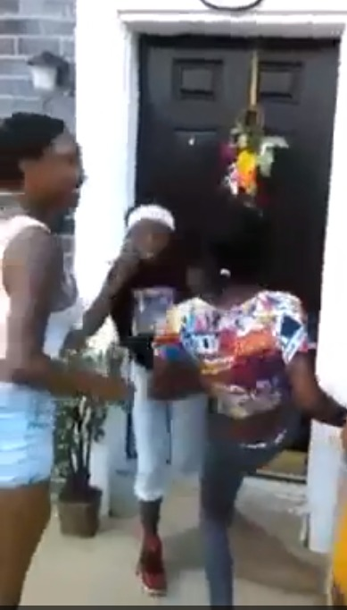 Home Invasion By Teen Girls Caught On Tape As They Kick The Door Down!!!