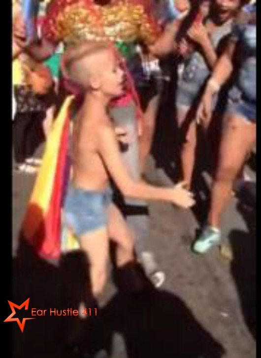 Young Boy Dances Provocatively At Gay Pride Parade In NY While Crowd Watches & Encourages Him
