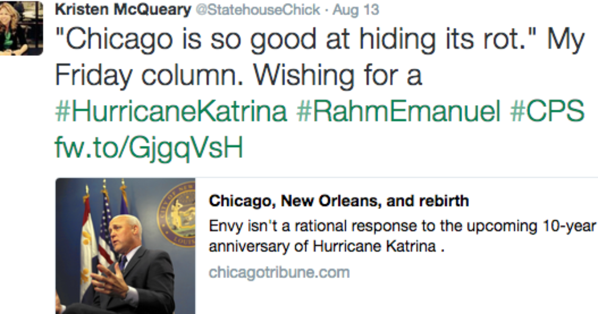 chicago tribune katrina