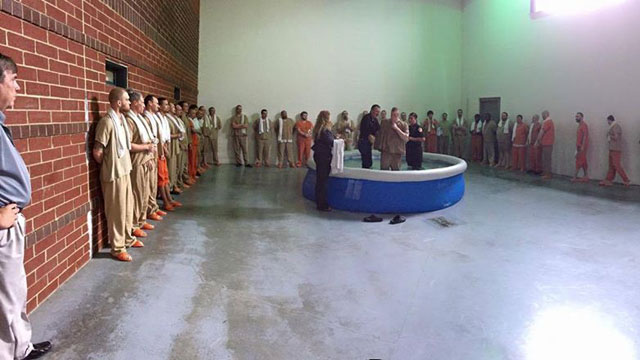 baptism in jail