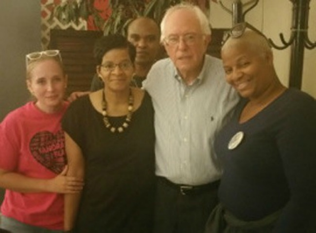 Presidential Hopeful Bernie Sanders Meets With Sandra Blands Mother In a Sacred Moment