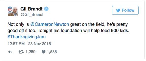 cam newton tweet