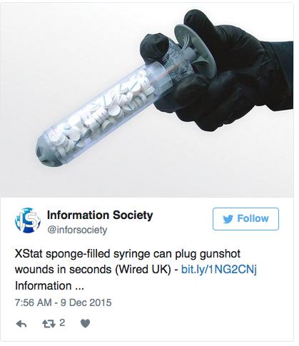 bullet wound sponges