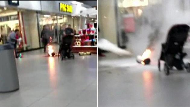 Hoverboard Catches Fire At A Mall In Washington State [Video]