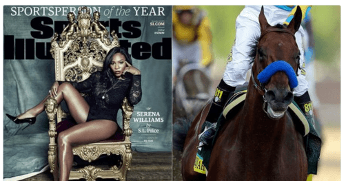 Sports Illustrated Fans Upset That Serena Williams Won Sports person Of The Year, They Thought Pharoah The Horse Should Have Won