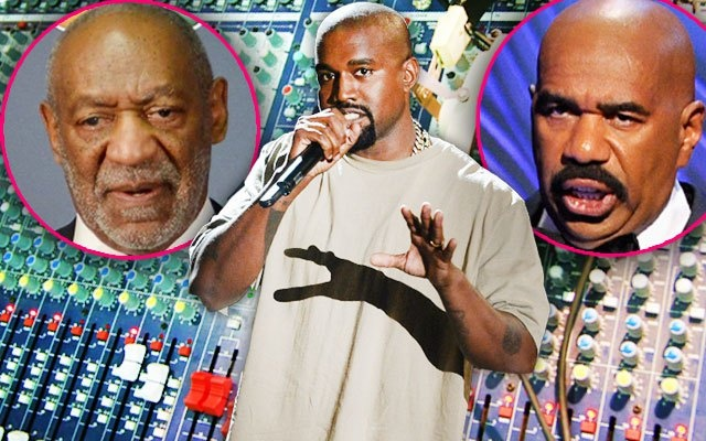Kanye West Disses Bill Cosby In New Surprise Track He Also Shaded Steve Harvey About Forgetting Ms. Universe Name