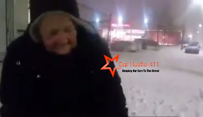 Jamaican Man Helps Elderly 75-Year Old Woman Walking In The Blizzard With Shopping Cart