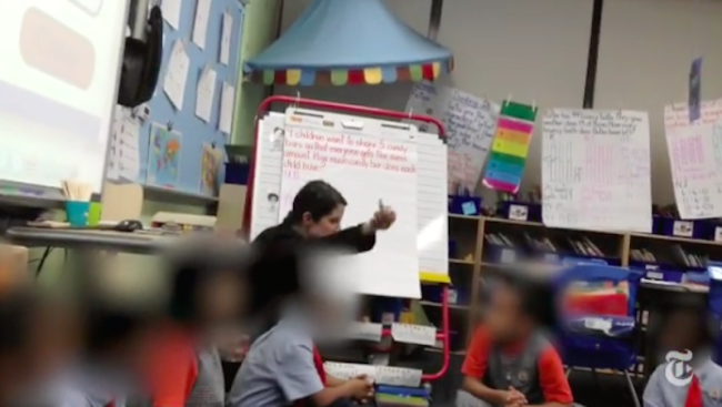 Disgusting Video Shows Teacher Berating A 1st Grader & Ripping Up Homework For Getting A Wrong Answer