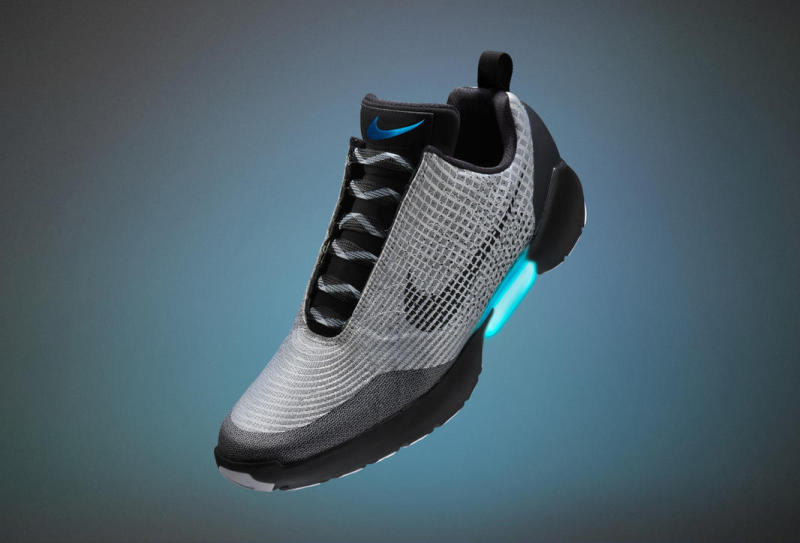 Nike's HyperAdapt 1.0 will self-lace and loosen and the press of a button. Photo Credit: Nike