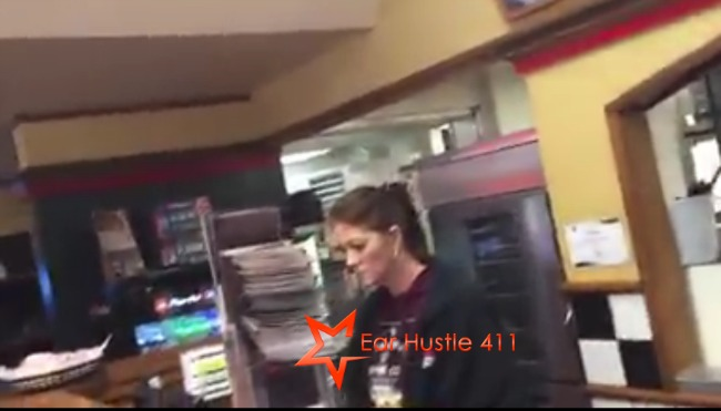 Pizza Hut Employee Throws Pizza At Black Guy Calls Him A Ni@@er When He Threatens To Call Police She Then Says She's Sorry