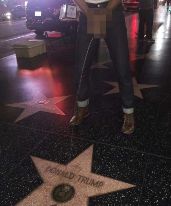 Donald Trump's Walk Of Fame Star In Jeopardy Of Removal Due To Extreme Vandalism
