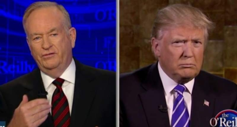 Bill O'Reilly Asks Trump How Does He Plan On Getting Blacks Hired When They Have Tattoos On Their Foreheads
