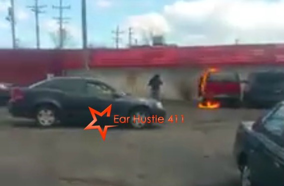 Angry Woman Sets Boyfriends Car On Fire Because He Didn't Pay Child Support