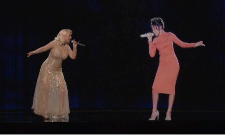 Christina Aguilera and Whitney Houston Performs A Duet With An Awesome Hologram & Whitney's Estate Pulls It!
