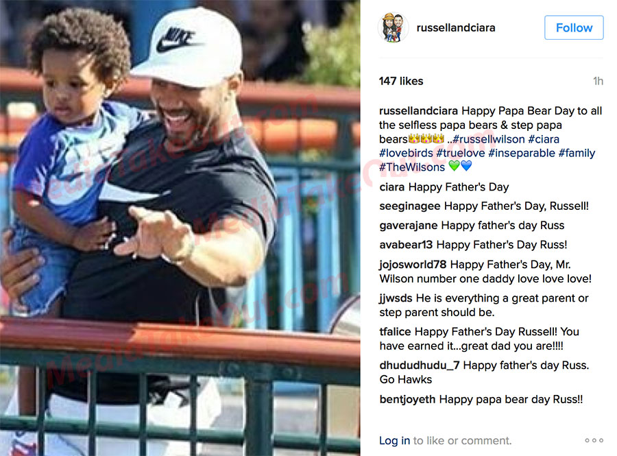 Is Ciara Being Messy By Posting Happy Father's Day to Russell Wilson & Not Future?